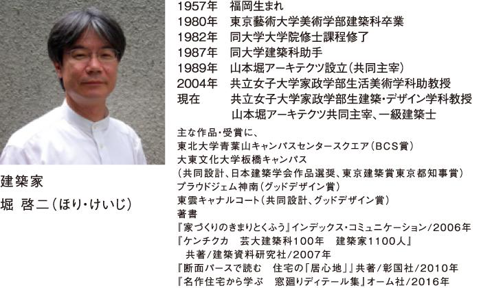 屋根コン2019審査員 建築家 堀 啓二(ほり・けいじ)